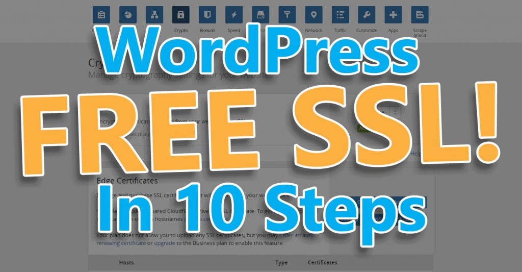 Free SSL for WordPress in 10 steps.