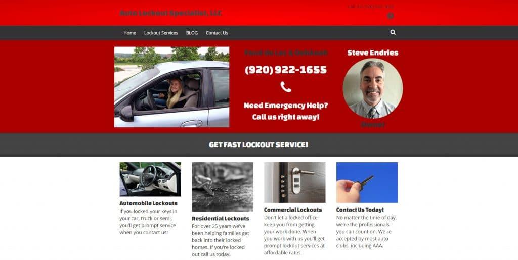 New Auto Lockout Specialist, LLC website Fond du Lac and Oshkosh, Wisconsin.